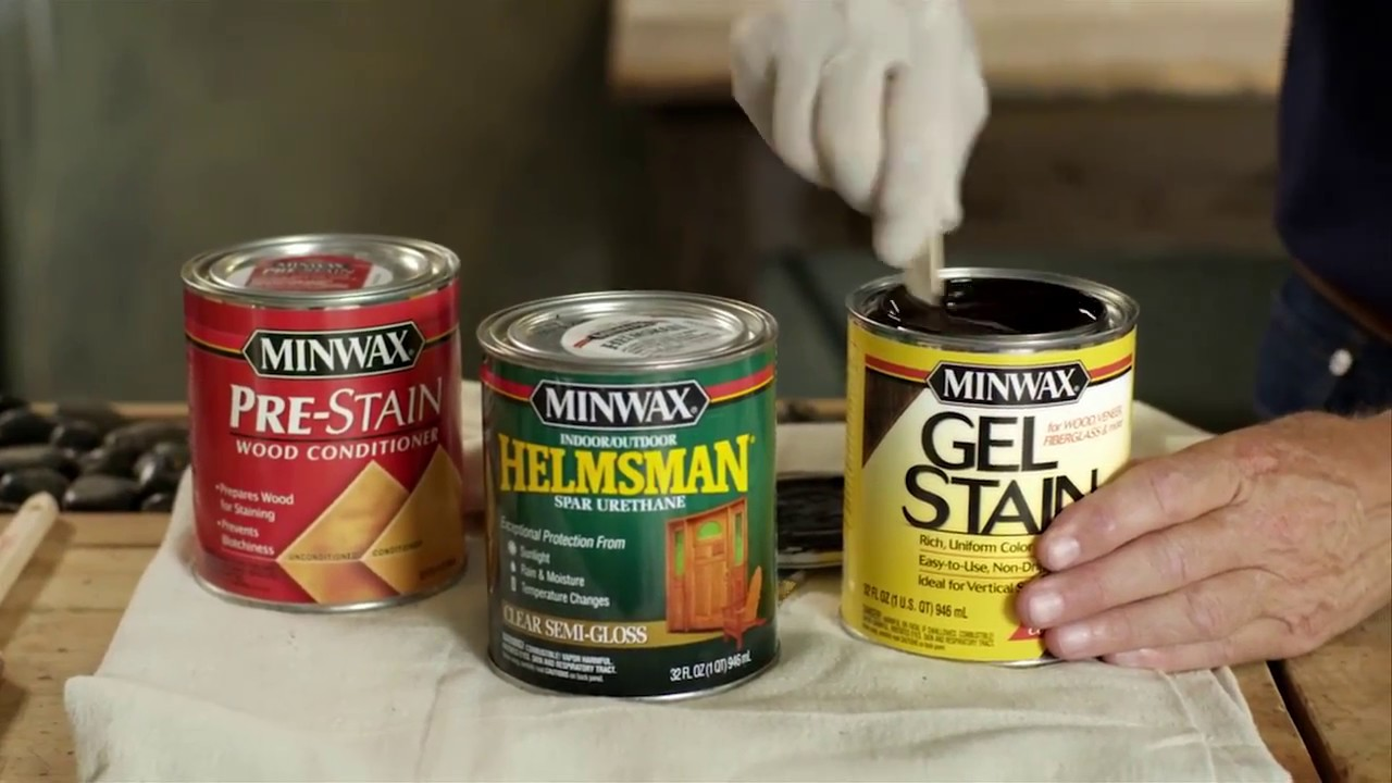 Stain l Wood & Non-Wood Surfaces | Minwax Gel Stain | Just Ask Bruce