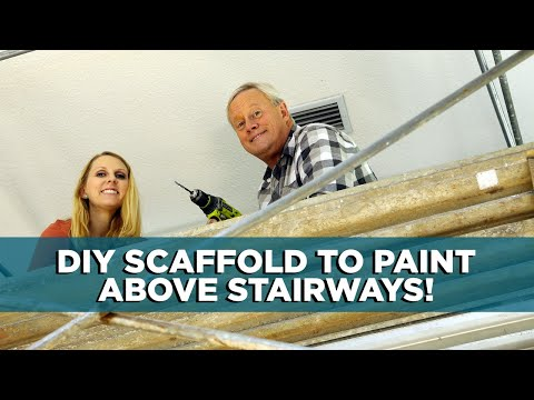 How To Paint A Hallway how to make a scaffold to paint a stairway - youtube