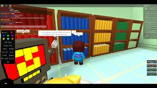 ROBLOX Undertale RP Part 7 1/2 Too Hot for me....