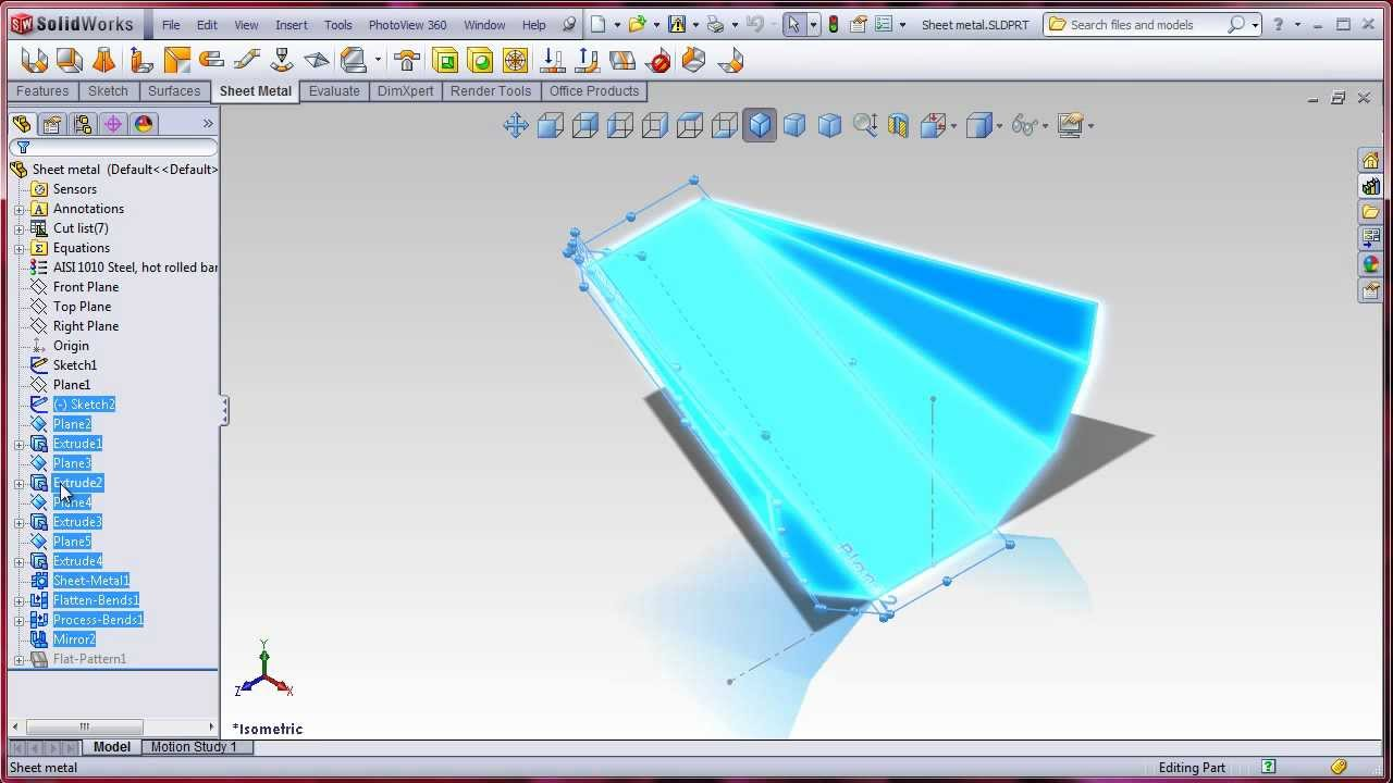Solidworks Lofted Bend Sheet Metal Youtube