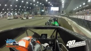 Christopher Bell In-Car 2016 Chili Bowl Heat Race