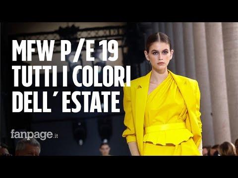 Milano Fashion Week  i colori di tendenza per la Primavera Estate 2019 85c55c7d7ee