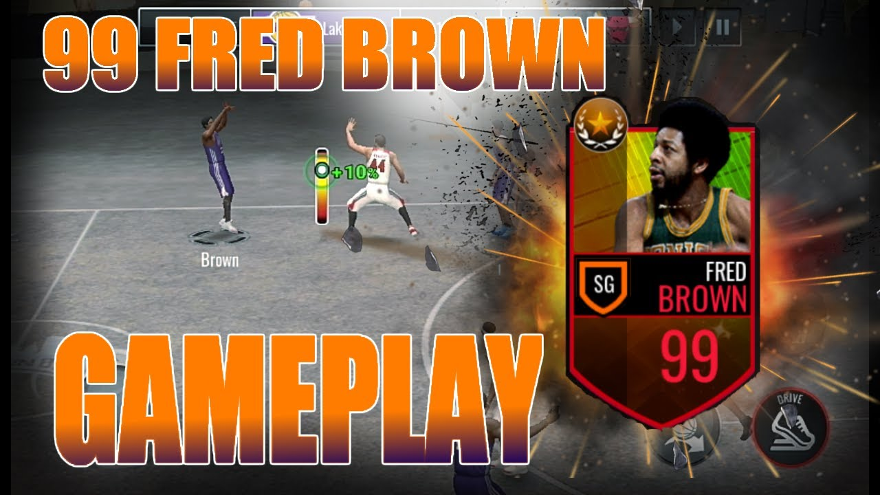 BEST 3PT SHOOTER EVER Fred Brown Gameplay nba live mobile