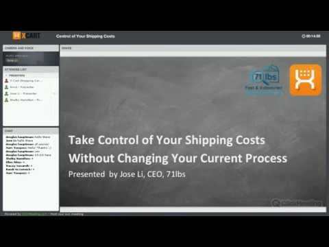Control of Your Shipping Costs: webinar with 71lbs CEO Jose Li