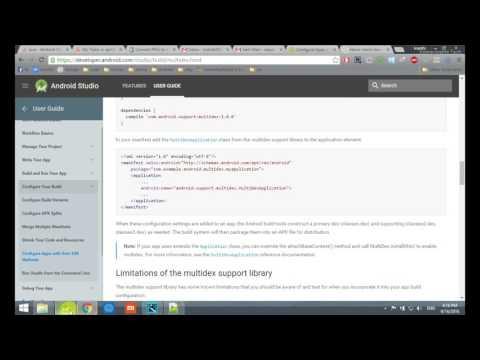 solution: Configure Apps with Over 64K Methods | Android Studio how to solve