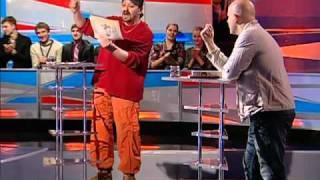 Драка на ТВ писателя Бузины и художника Пояркова