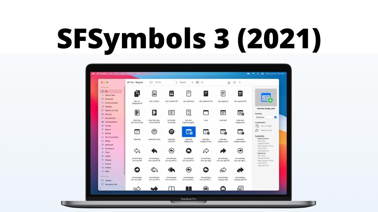 SFSymbols 3 First Look (WWDC 2021, Swift 5, Xcode 13) - iOS Development