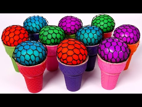 Thumbnail: Squishy Balls Learn Colors for Children with Ice Cream Cones