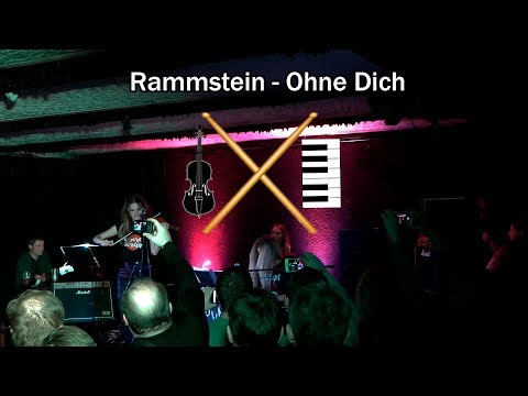 Rammstein - Ohne Dich (С УДАРНЫМИ!)   Сover drum, violin and piano (Концертная запись)