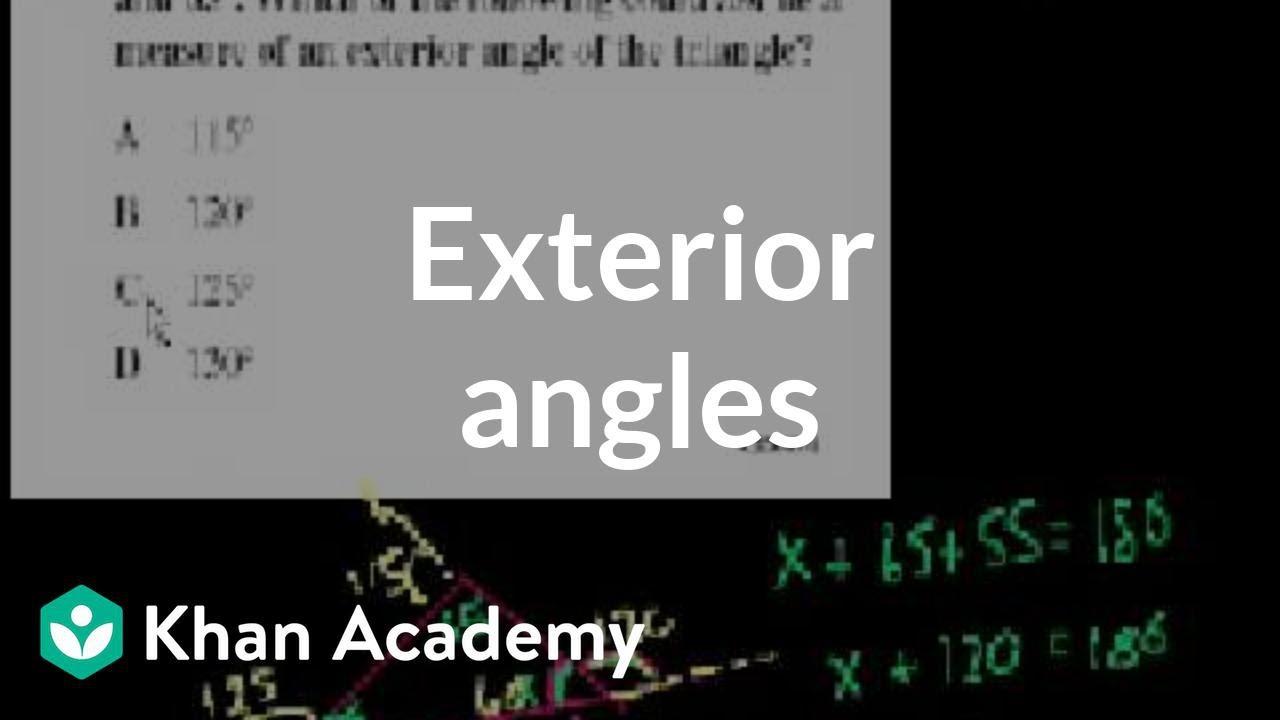 Exterior Math: CA Geometry: Exterior Angles