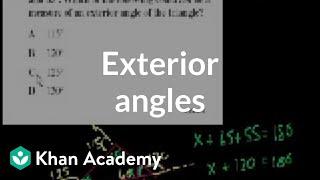 CA Geometry: Exterior angles