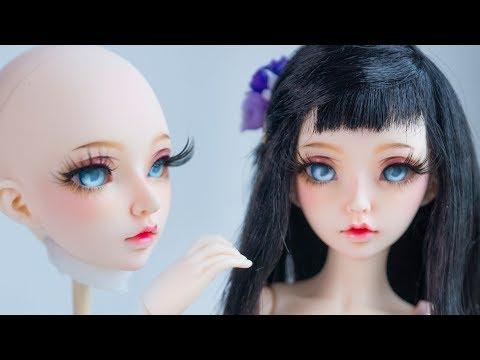 Faceup Tutorial №78 Minifee Celine OOAK BJD Custom doll repaint by WillStore