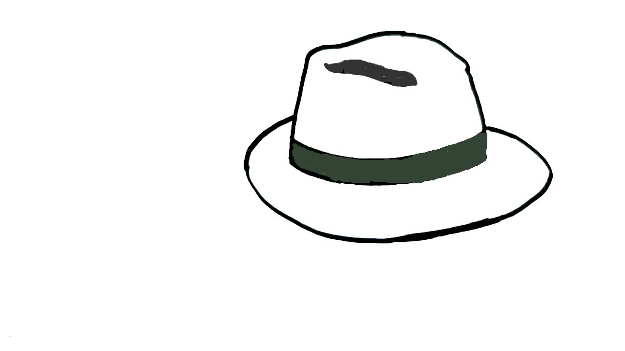 How To Draw A Hat In Easy Steps For Children Beginners