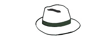 How to draw a Hat- in easy steps for children. beginners