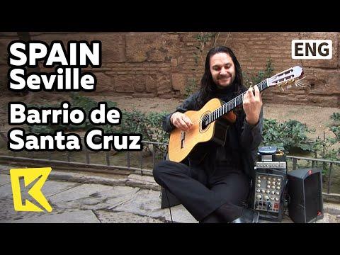 【k】spain-travel-seville[스페인-여행-세비야]산타크루즈-거리,-클래식-기타-연주-'로망스'/barrio-de-santa-cruz/guitar/romance