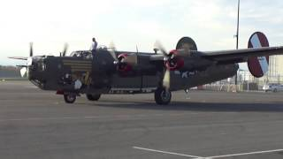 "B-24 Liberator ""Witchcraft"" start-up and take off"