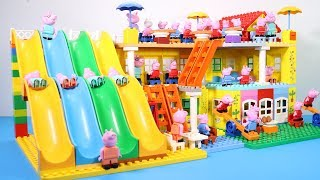 Peppa Pig Lego House Toys For Kids - Lego House With Water Slide Creations Toys #10