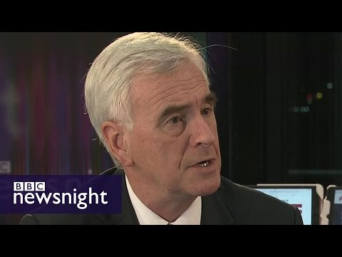 Shadow Chancellor John McDonnell interview at Labour Conference - BBC Newsnight