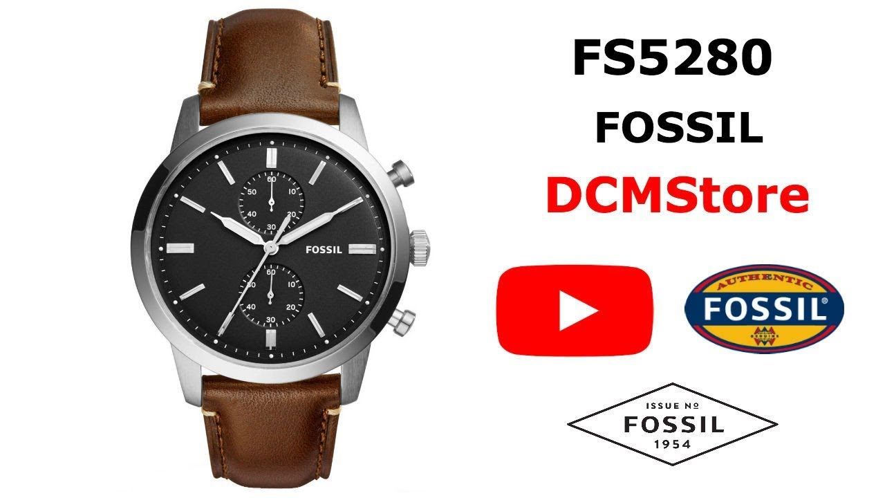 dde0c40a4189 FS5280 Fossil Townsman Chronograph Brown Leather ..... DCMStore ...
