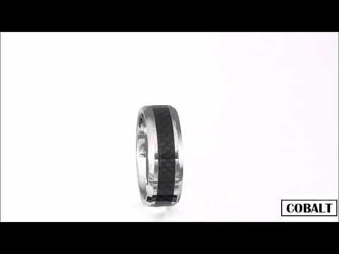 Men's Cobalt & Black Carbon Fibre Ring