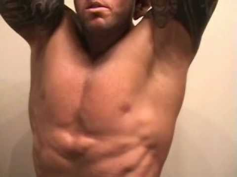 Male Fitness & Muscle Model Competitor John Quinlan Abs 10-14-2010