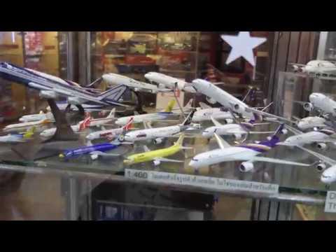 Toy Store - Aircraft Model shop in MBK Centre Bangkok Thailand [4K/UHD]