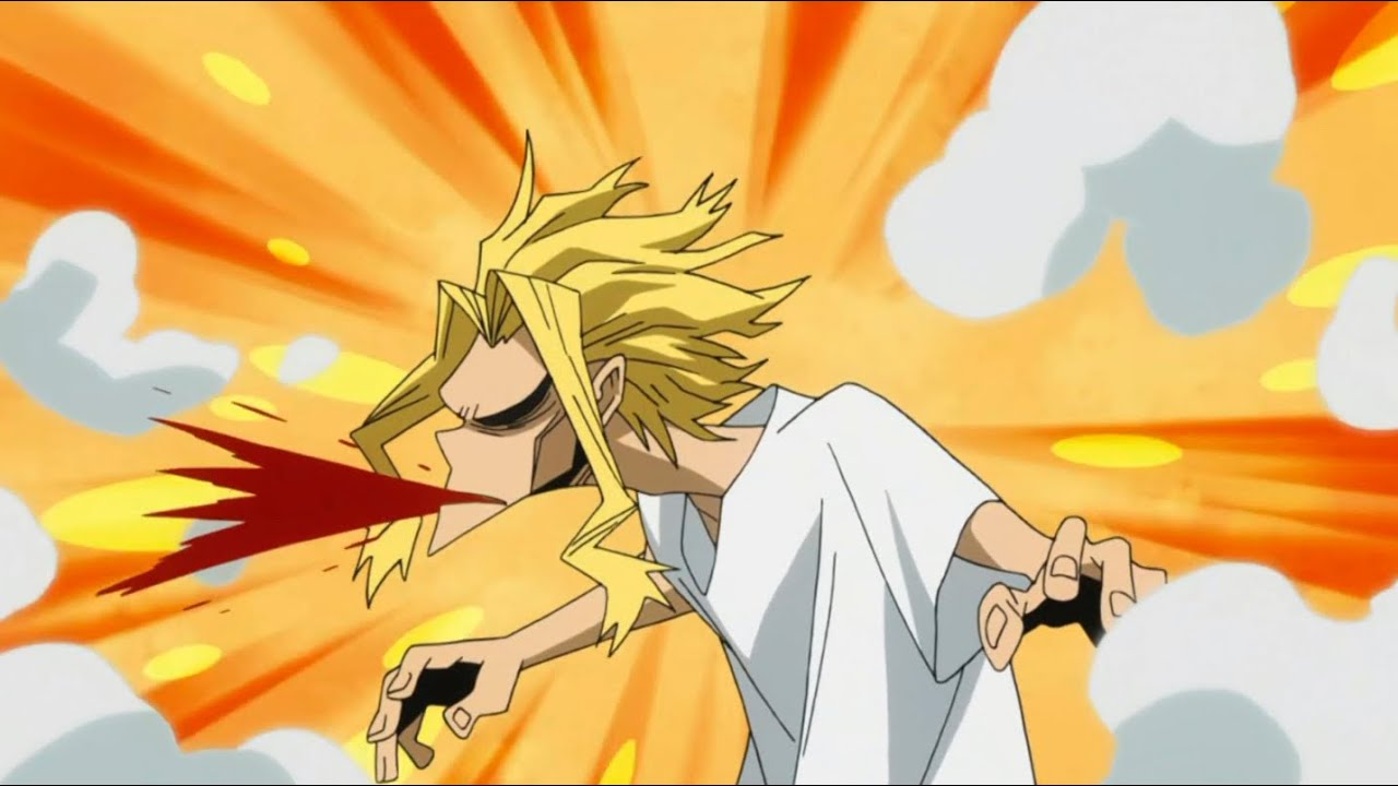 All Might coughing up blood for 4 minutes and 5 seconds