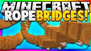 Minecraft: Make Instant Hanging Rope Bridges To Help You Cross Ravines