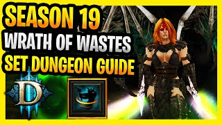 Wrath of the Wastes Set Dungeon Guide Tutorial Location Whirlwind Barb Season 19 Diablo 3 Conquest