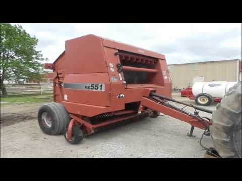 Case IH RS551 round baler for sale | no-reserve Internet auction May 25,  2016