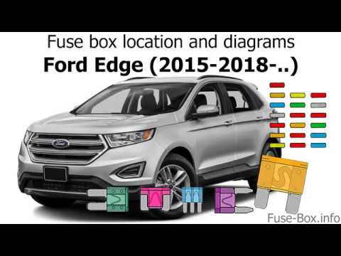 Fuse box location and diagrams Ford Edge (2015-2018-) - YouTube