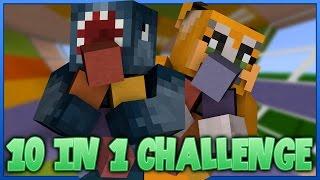 10 IN 1 CHALLENGE! Minecraft Custom Map W/Stampy!