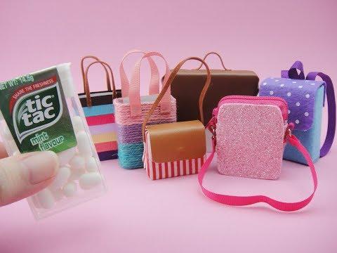 6 DIY Barbie Hacks & Craft - Tic Tac Miniature Bags