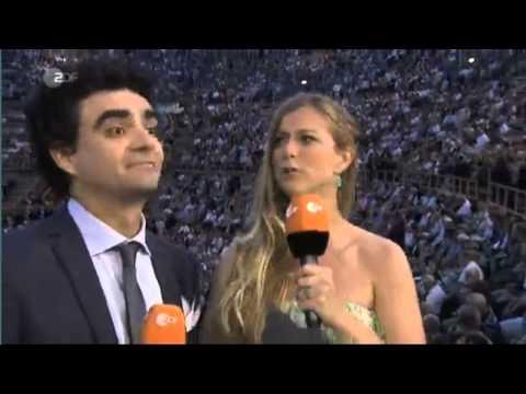 Rolando Villazón y Nina Eichinger presentan Aida (Arena de Verona) para ZDF (06/2013)