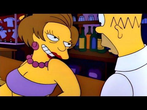 Homer Ignites Edna's Drink