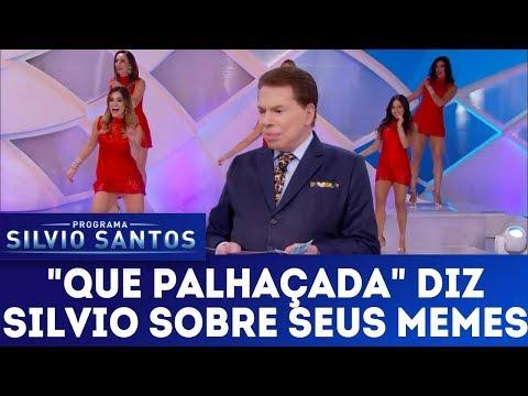 Silvio Santos fica bravo assistindo seus memes na internet