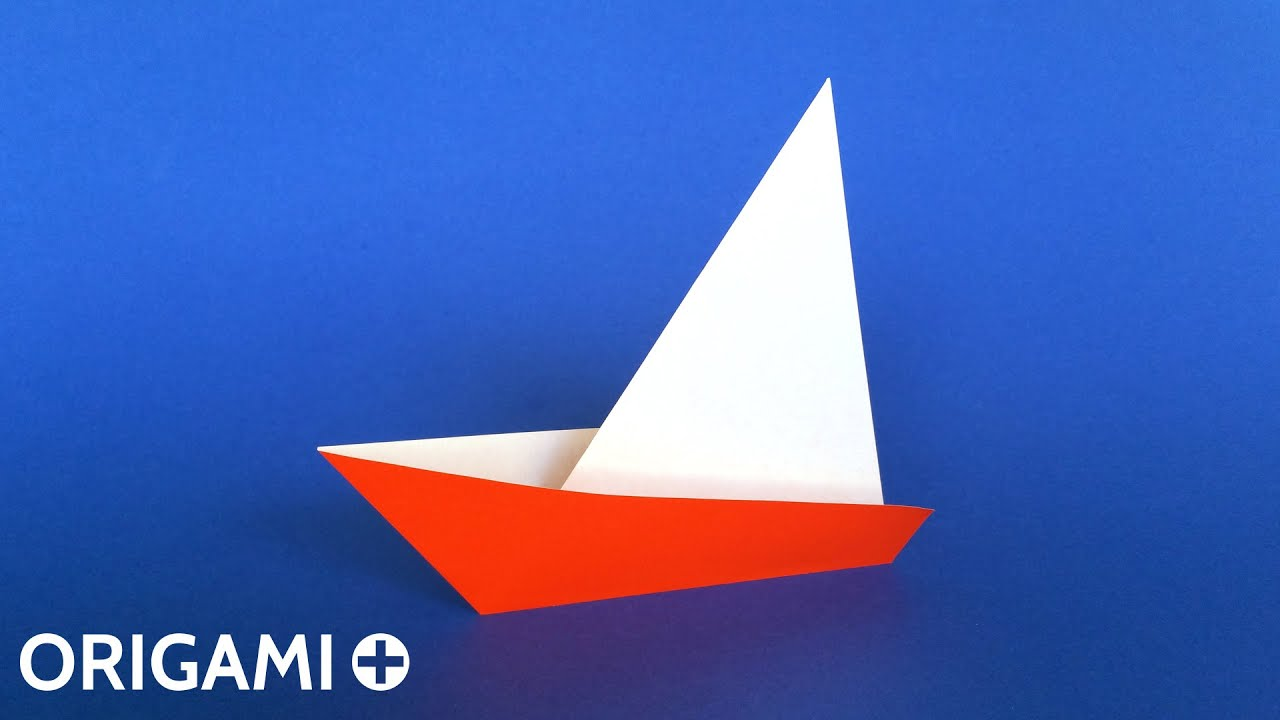How To Make A Very Easy Origami Sailboat Tutorial Traditional Model Only 2 Folds