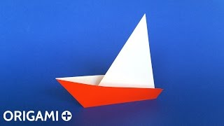 How to Make a Very Easy Origami Sailboat ⛵ Tutorial (Traditional model) Only 2 folds!