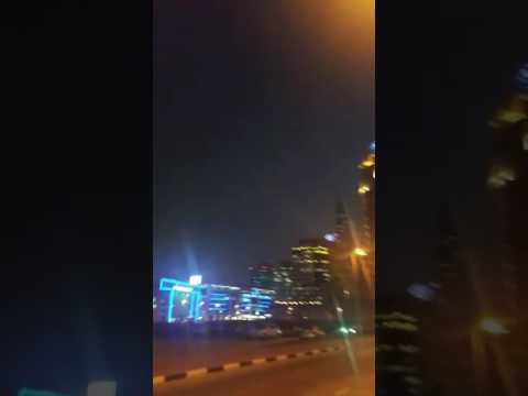 Leaving dubai Media city walking to Dubai Marina Towers