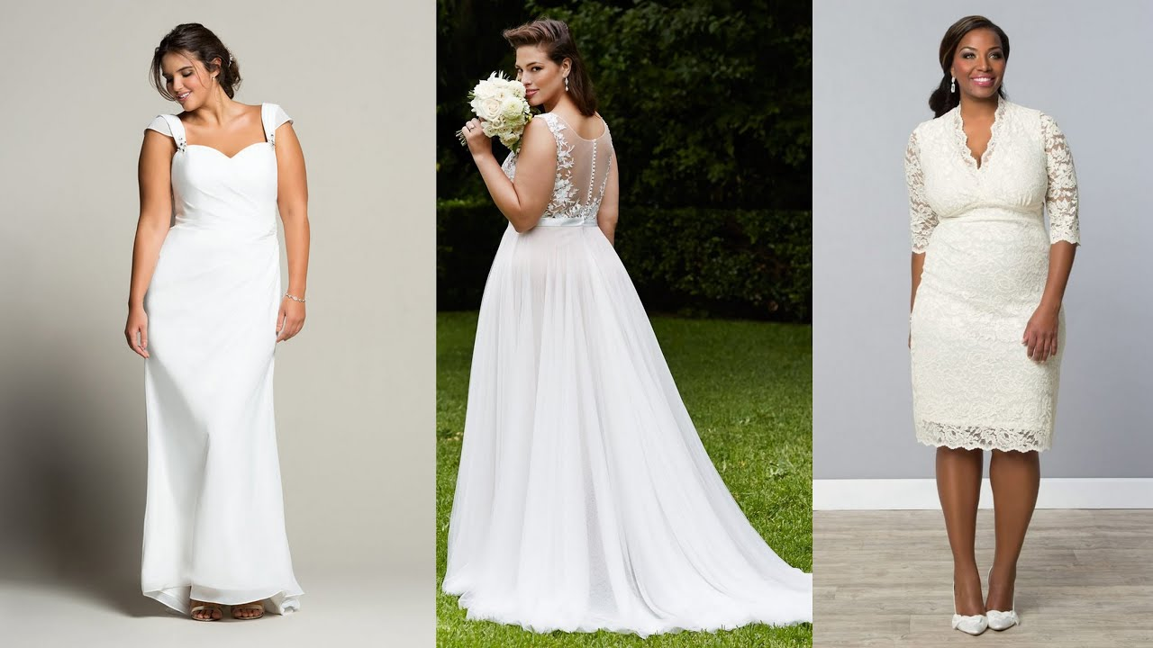 20 Gorgeous Wedding Gowns For Curvy Girls - YouTube