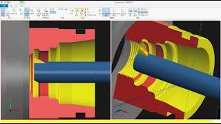 CNC선반 기계가공을 위한 형상 부품 제도 설계 모델링…