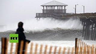 Llegada del huracán Florence a la costa este de EE.UU.