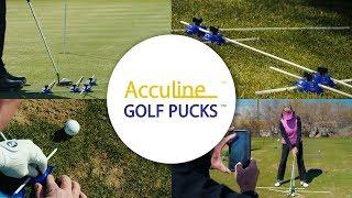 Acculine Golf Pucks - Golf Swing Training Aid