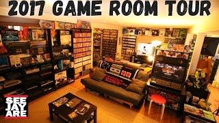 One of SeeJayAre's most viewed videos: 2017 Game Room Tour - 5,000 Games, 100+ Systems... Total Cost?