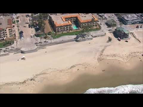 San Diego Beaches Are Deserted Following New San Diego Guidelines.