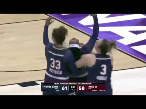 Radio Call of Notre Dame Beating Mississippi State to win the National Championship!
