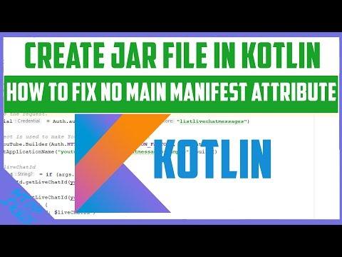 How to fix no main manifest attribute / Create Jar File in