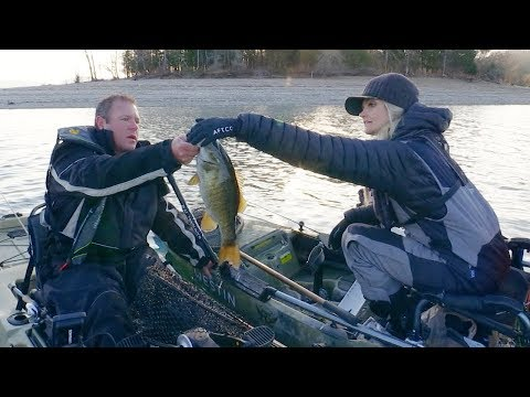 Kayak Fishing With The Extraordinary Kristine Fischer - Big Dale Hollow Smallmouth Bass