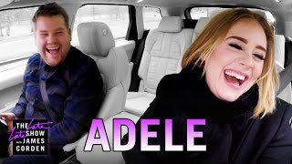 Adele Carpool Karaoke(While home in London for the holidays, James Corden picks up his friend Adele for a drive around the city singing some of her classic songs before Adele raps ..., 2016-01-14T06:09:24.000Z)