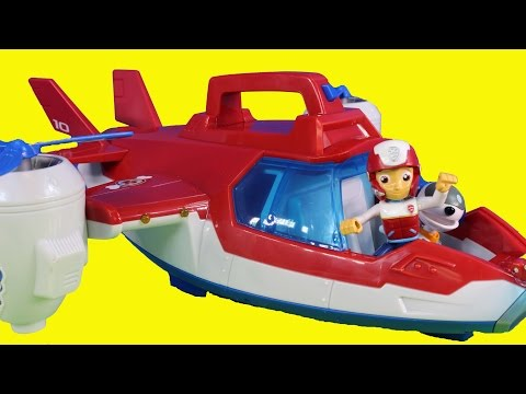 Nickelodeon Paw Patrol Air Patroller With Ryder Chase Firefighter Marshall Rescue Cali